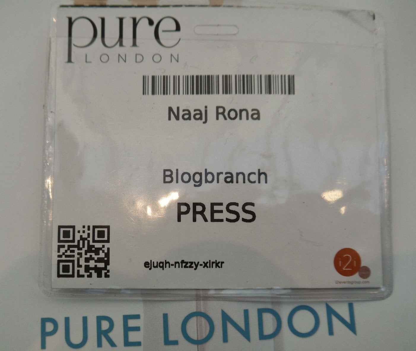 Thankful for the opportunity to visit Pure London Show
