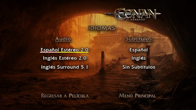 Capturas DVDR Menu Full Conan El Barbaro 2011 Incluye Extras