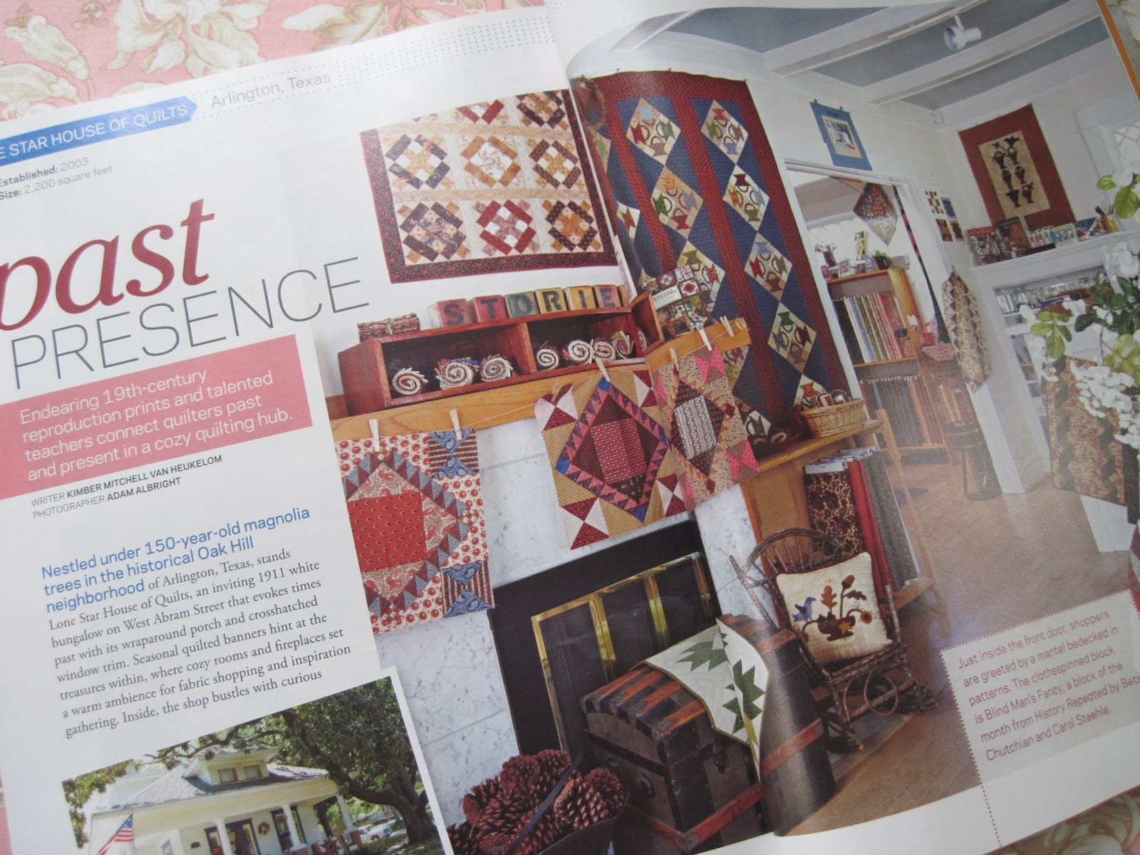 Heirlooms by Ashton House: MAGAZINE BLISS AND A GIVEAWAY : lone star house of quilts - Adamdwight.com
