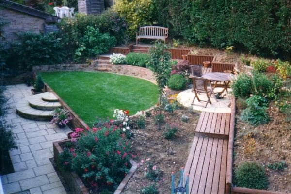 Landscaping Ideas For Sloping Gardens sloped landscape design ideas designrulz 8 Sloping Garden Design Ideas Interior And Home Decor Sloping Garden