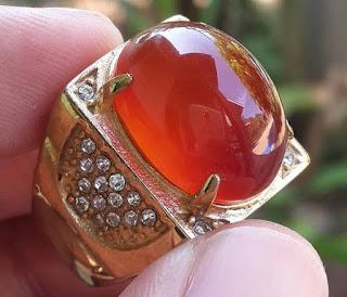 Batu Natural Redist Orange Raflessia Bengkulu Top Kristal