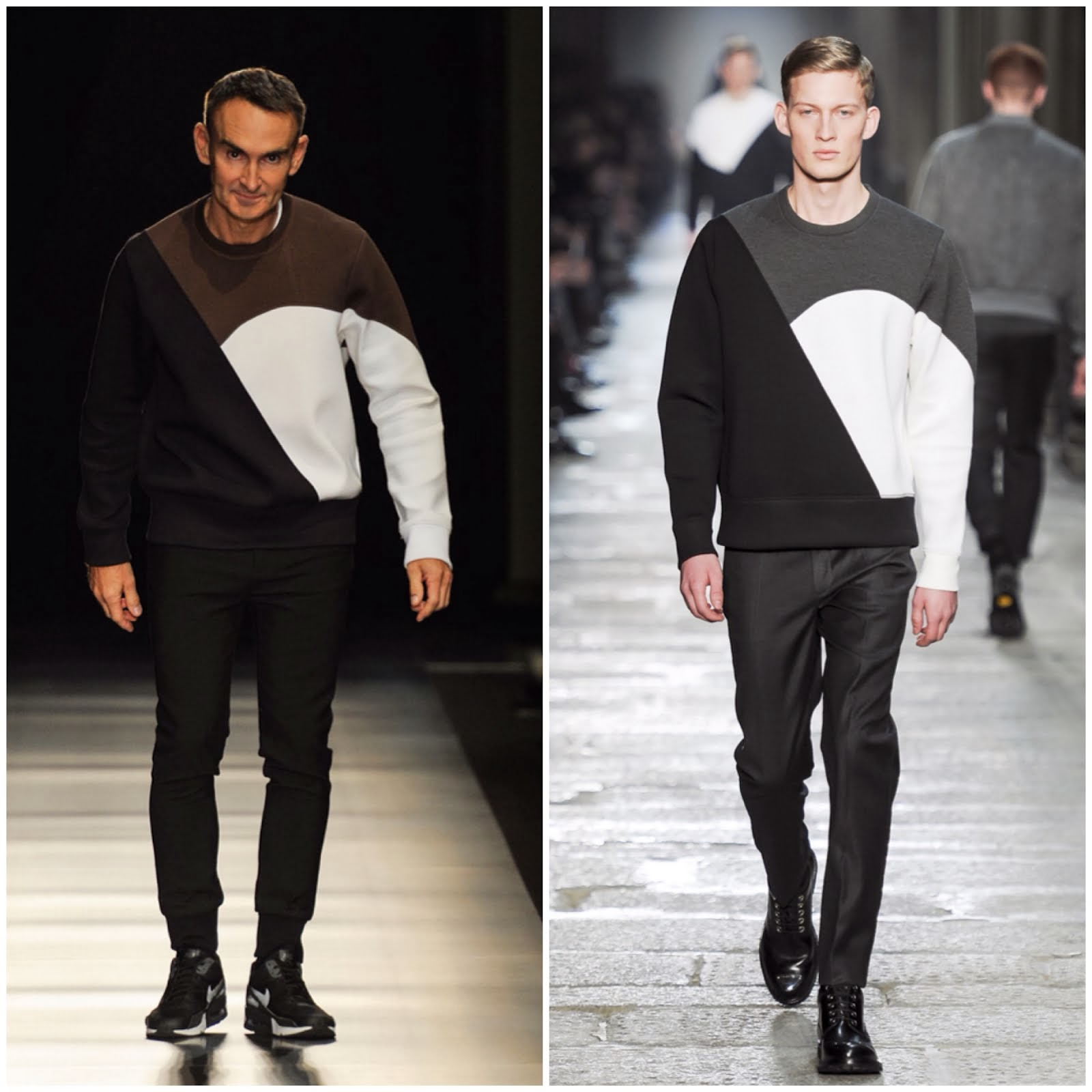 Neil Barrett in NEIL BARRETT COLOUR-BLOCK BONDED-JERSEY SWEATSHIRT - Neil Barrett Fall Winter 2014 Show, #MFW