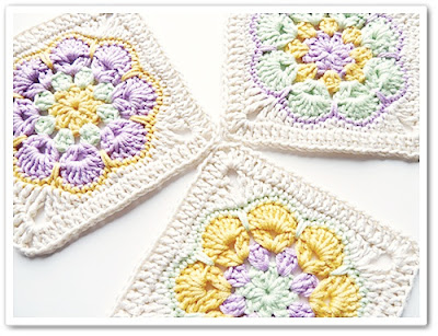 free crochet pattern african flower square