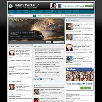 Portal Blogger Templates Download Johny Portal 2 Blogger Templates - Terbaru 2016