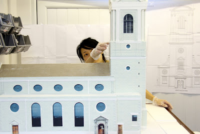 Michelle Wibowo making St Bride's Church Cake