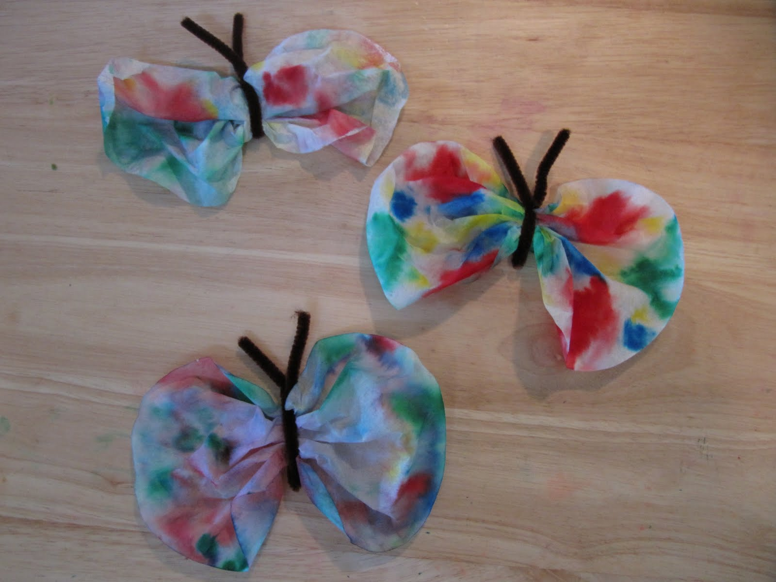 Afterthoughts . . .: Coffee Filter Butterflies