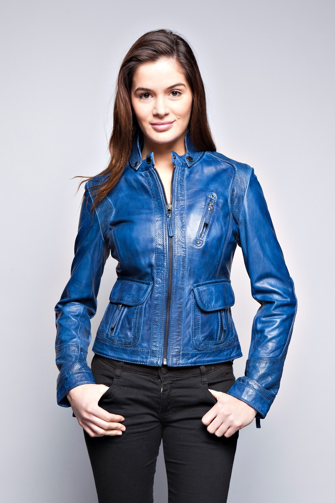 the leather jackets for women and men by prestige cuir caty a beautiful timeless leather jacket. Black Bedroom Furniture Sets. Home Design Ideas