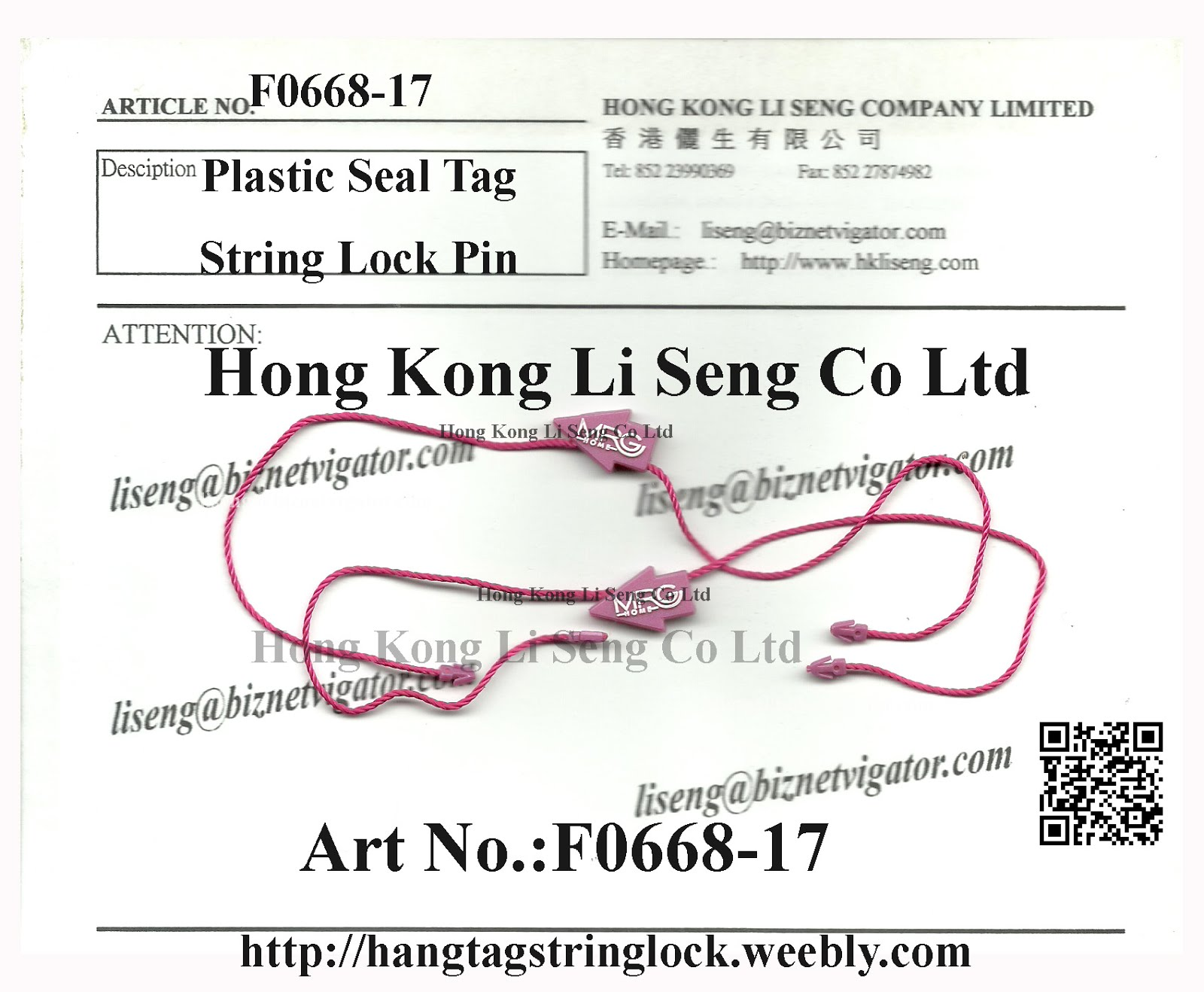 Special Type and Apperrance Hang Tag String Lock