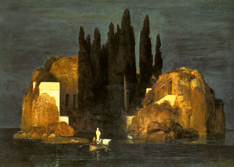 Arnold Böcklin 1827-1901 | Swiss Symbolist painter | The Isle of the Dead, 1883