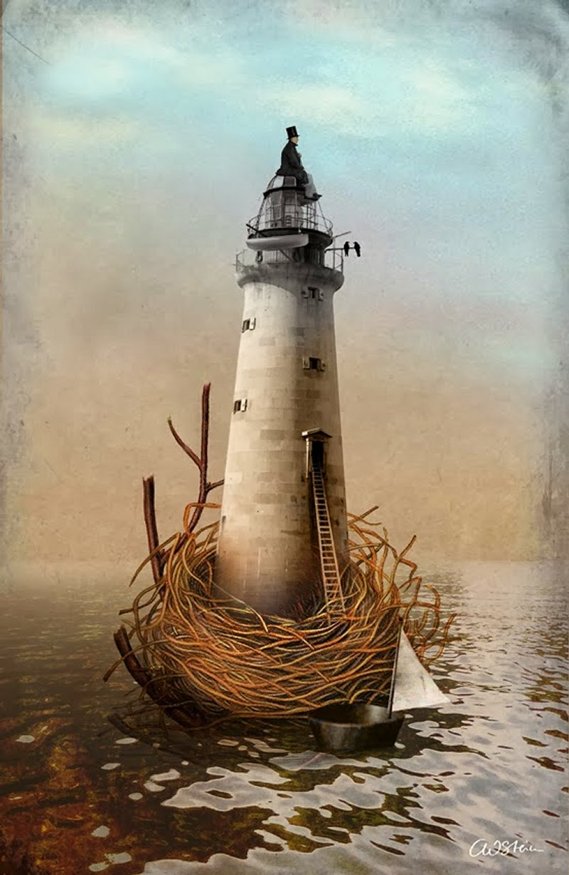 17-To-the-Lighthouse-Catrin-Weiz-Stein-Digital-Surreal-Photography-www-designstack-co