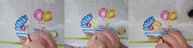 Pintura em tecido fralda passo a passo