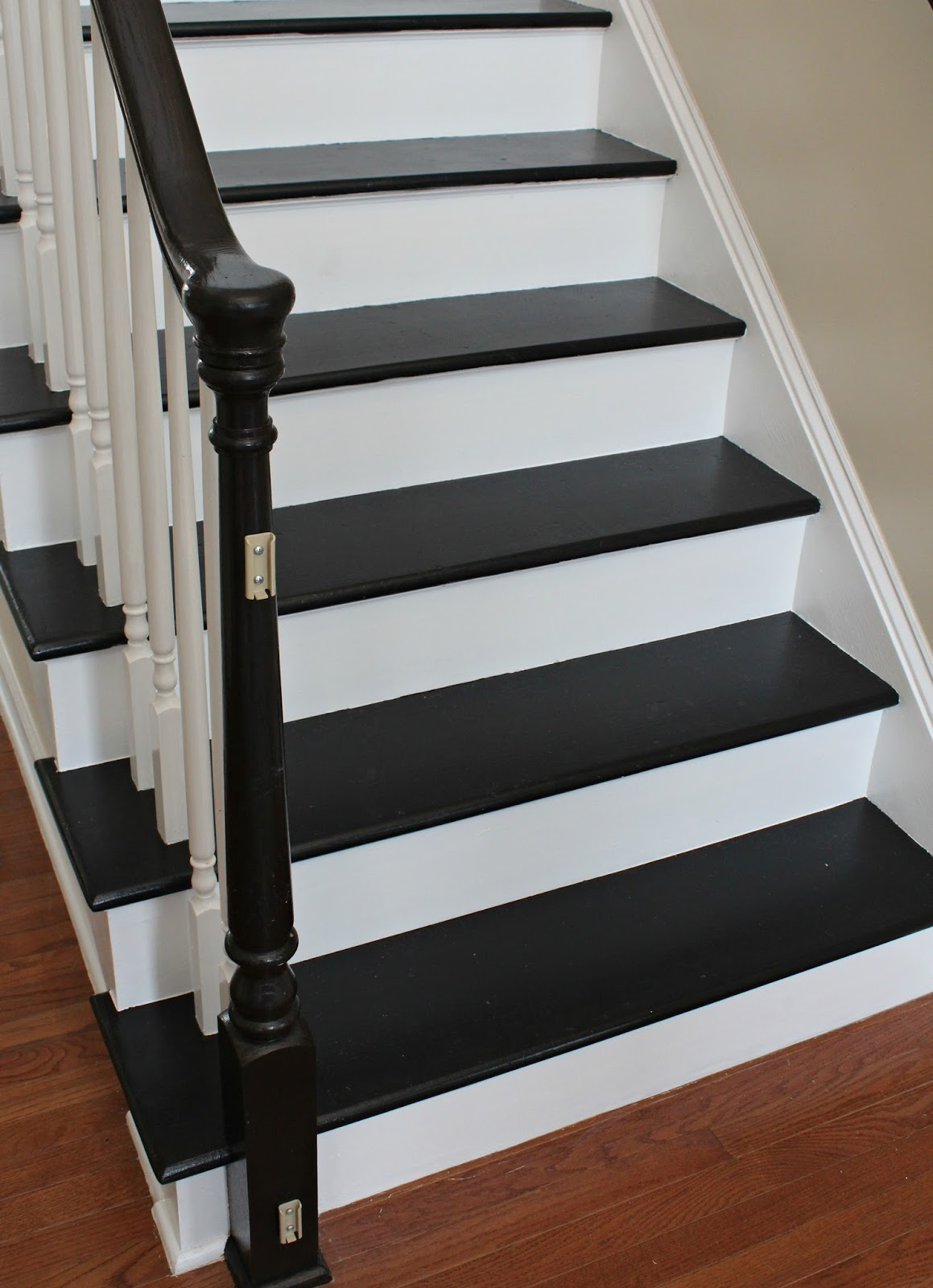 Carolina on my mind refinishing our stairs reveal for Painted stair treads