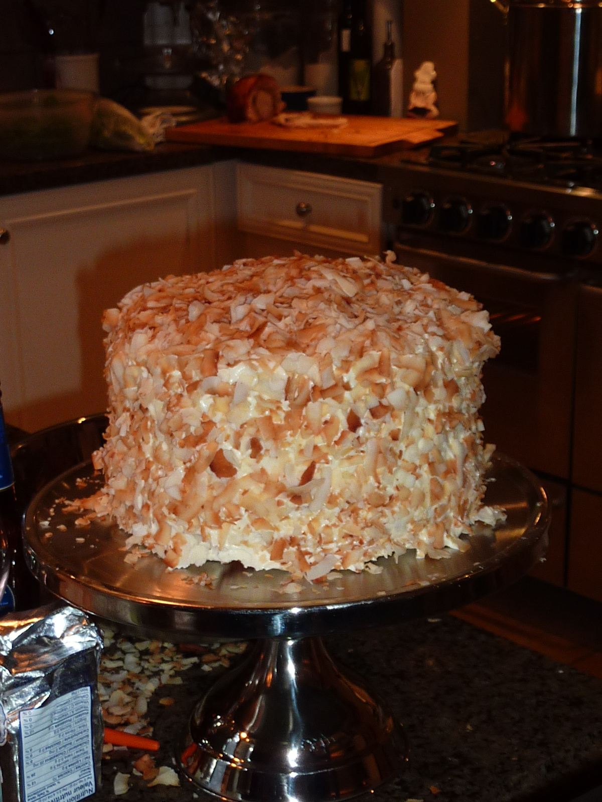 My White Apron: Coconut Southern Comfort Layer Cake of Deliciousness