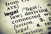 definition legal words