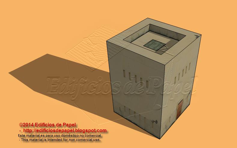Modelo 1525: maqueta de papel del fuerte colonial