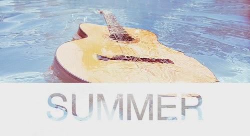 música, verano, guitarra