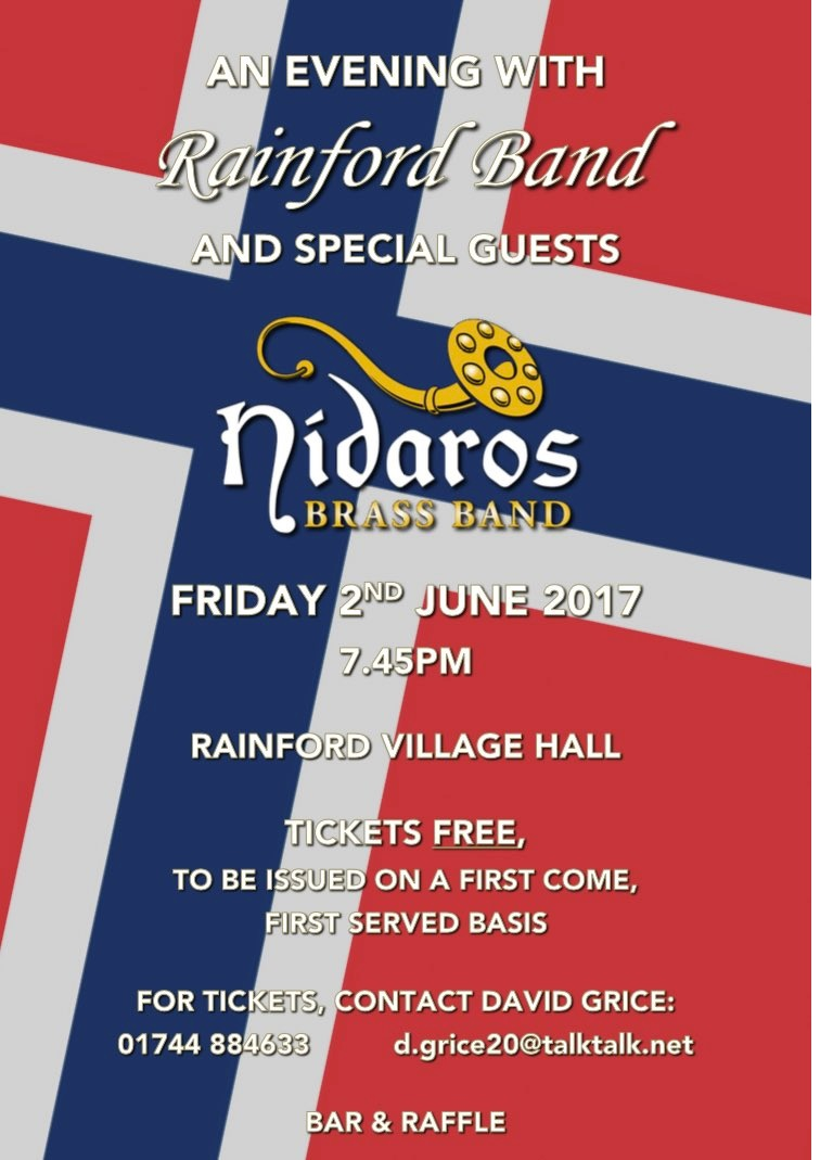 Joint Concert! Rainford Band/Nidaros Brass Band