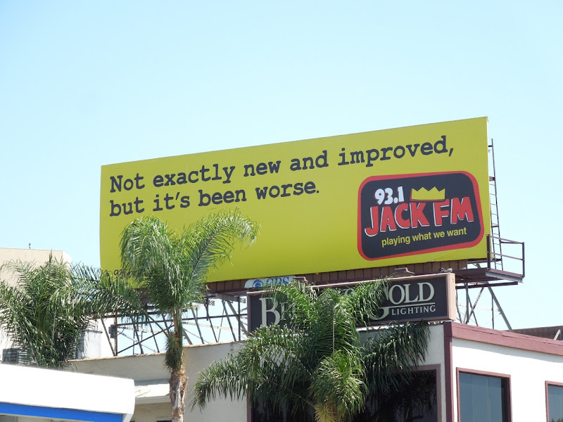 Not new improved Jack FM billboard