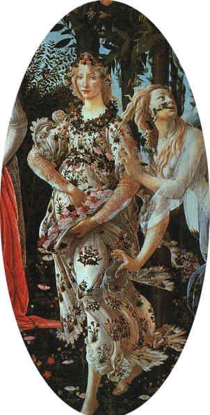 La Primavera di Botticelli (particolare)