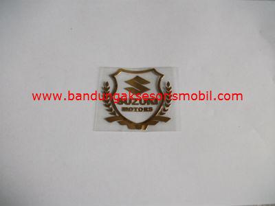 Emblem Alumunium Kotak Kecil Logo Mobil Suzuki