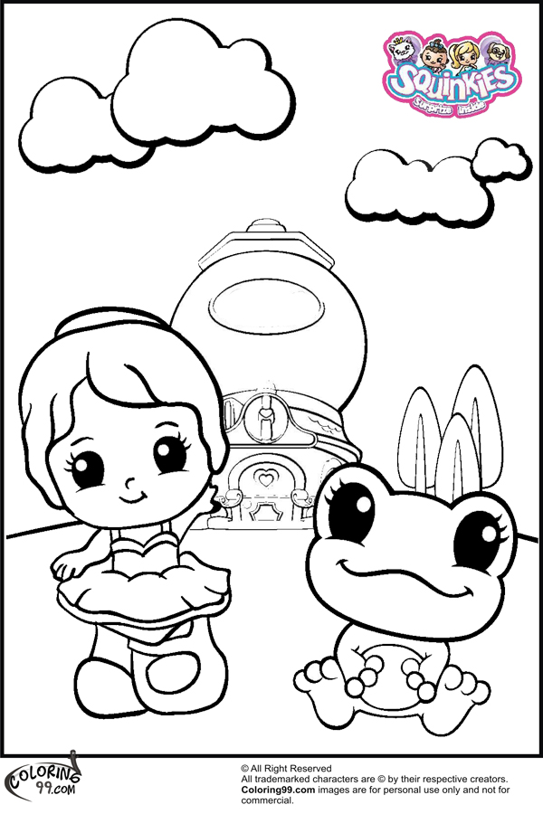 squinkies coloring pages online - photo#12
