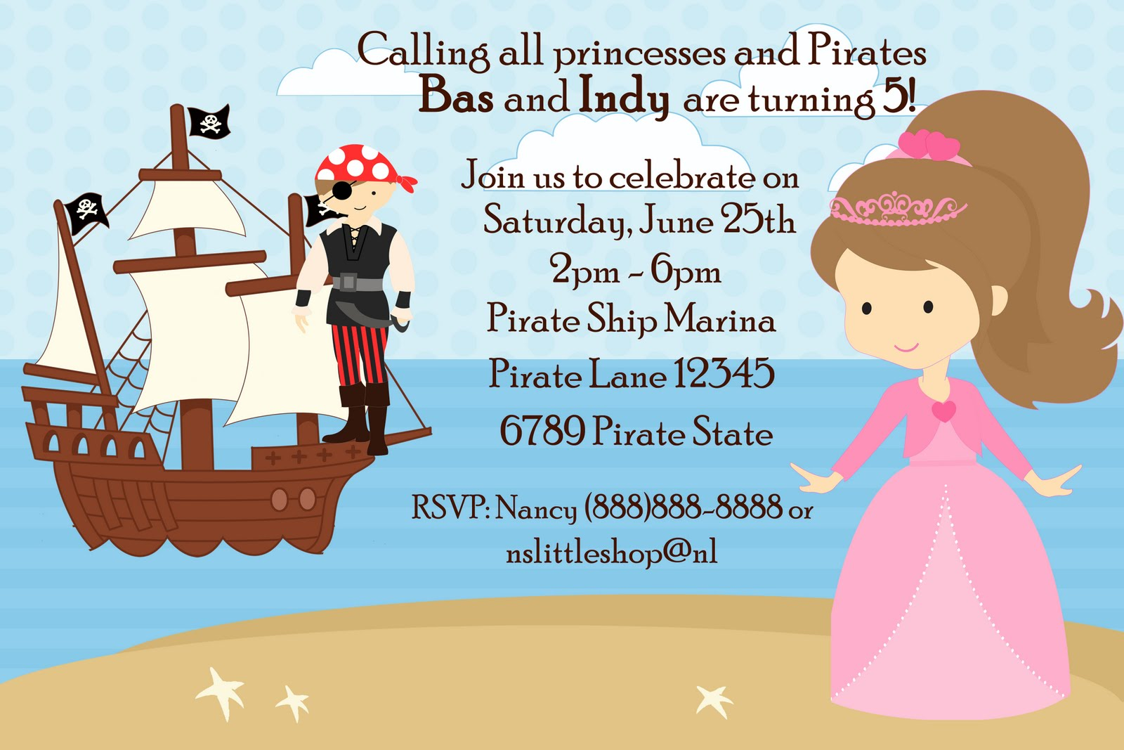 nslittleshop party decorations and more: Pirate and Princess and Mermaid