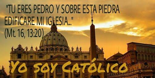 Resultado de imagen para tu eres pedro y sobre esta piedra edificare mi iglesia biblia catolica