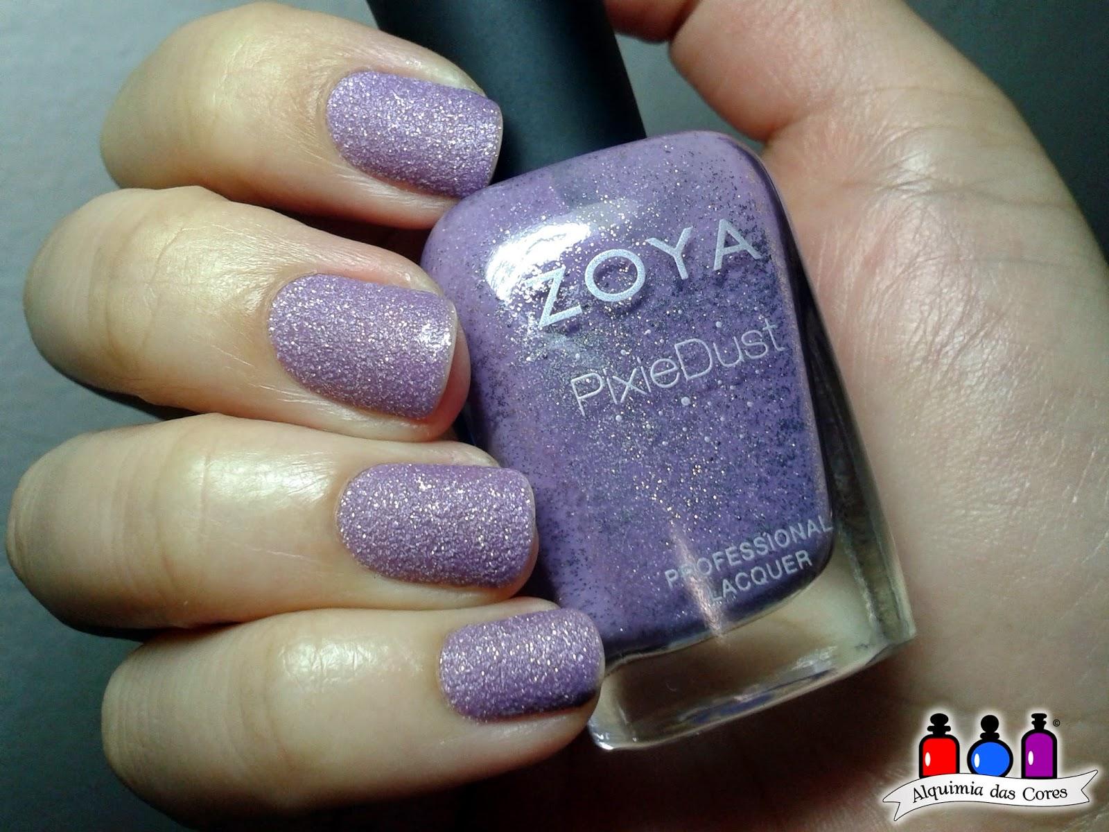 Zoya, texturizado, lilás, Stevie, nail polish, esmalte, Pixie Dust