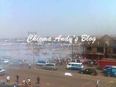 Fire at Mile One market Port Harcourt chiomaandy.com