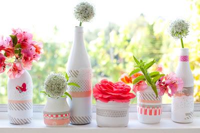 semplicemente perfetto wedding diy bottiglie vasi riciclo