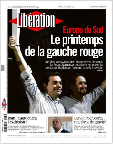 Liberation: ΣΥΡΙΖΑ, Podemos… η καταιγίδα που ήρθε από τον ευρωπαϊκό Νότο