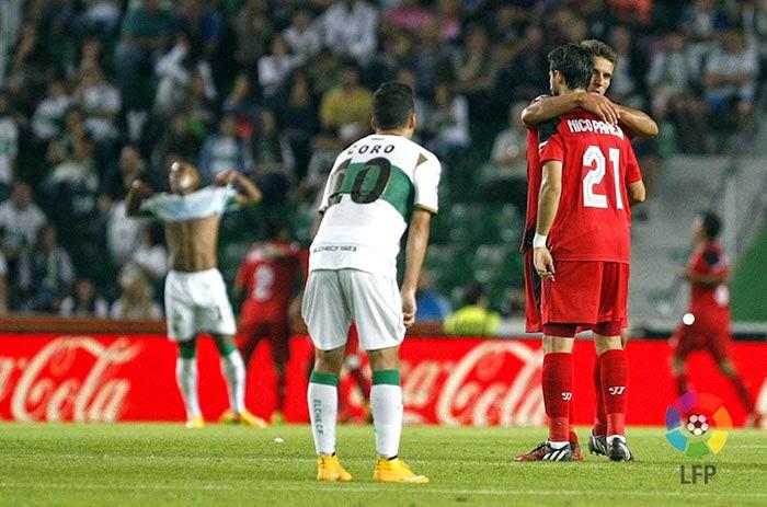 Crónica Elche CF 0 Vs Sevilla FC 2