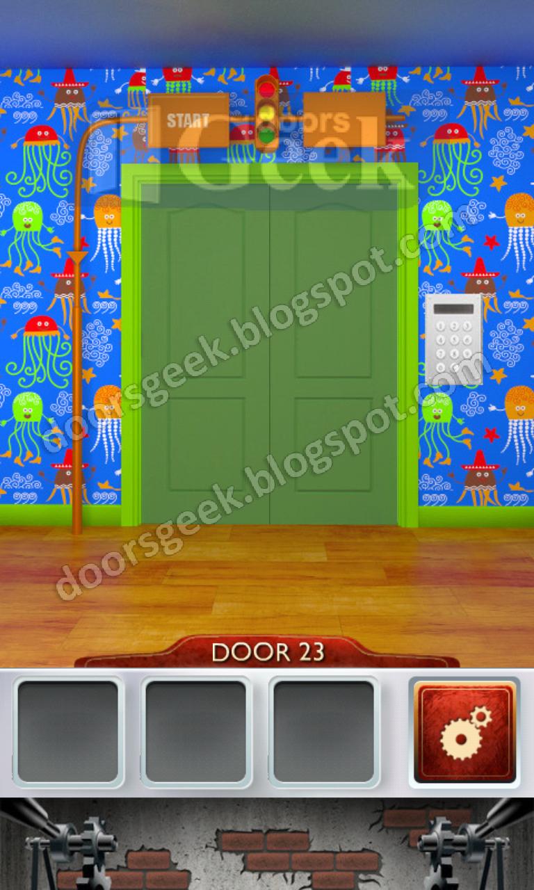 100 doors 2 level 23 doors geek for 100 doors door 4 solution