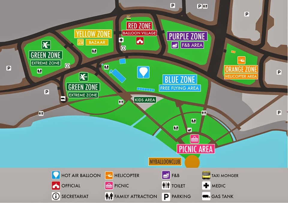 Putrajaya International Hot Air Balloon Fiesta 2015 Zone