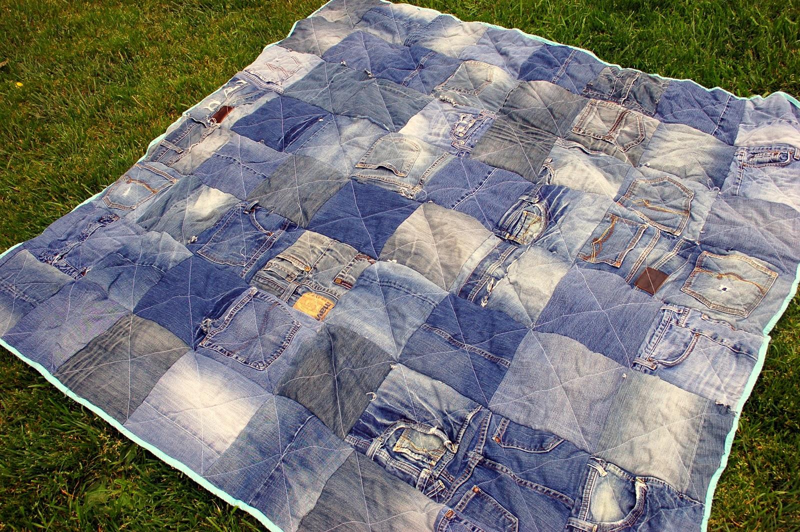 DIY Denim Quilt - iCandy handmade : denim quilt - Adamdwight.com