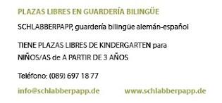 Plazas libres en guardería bilingüe