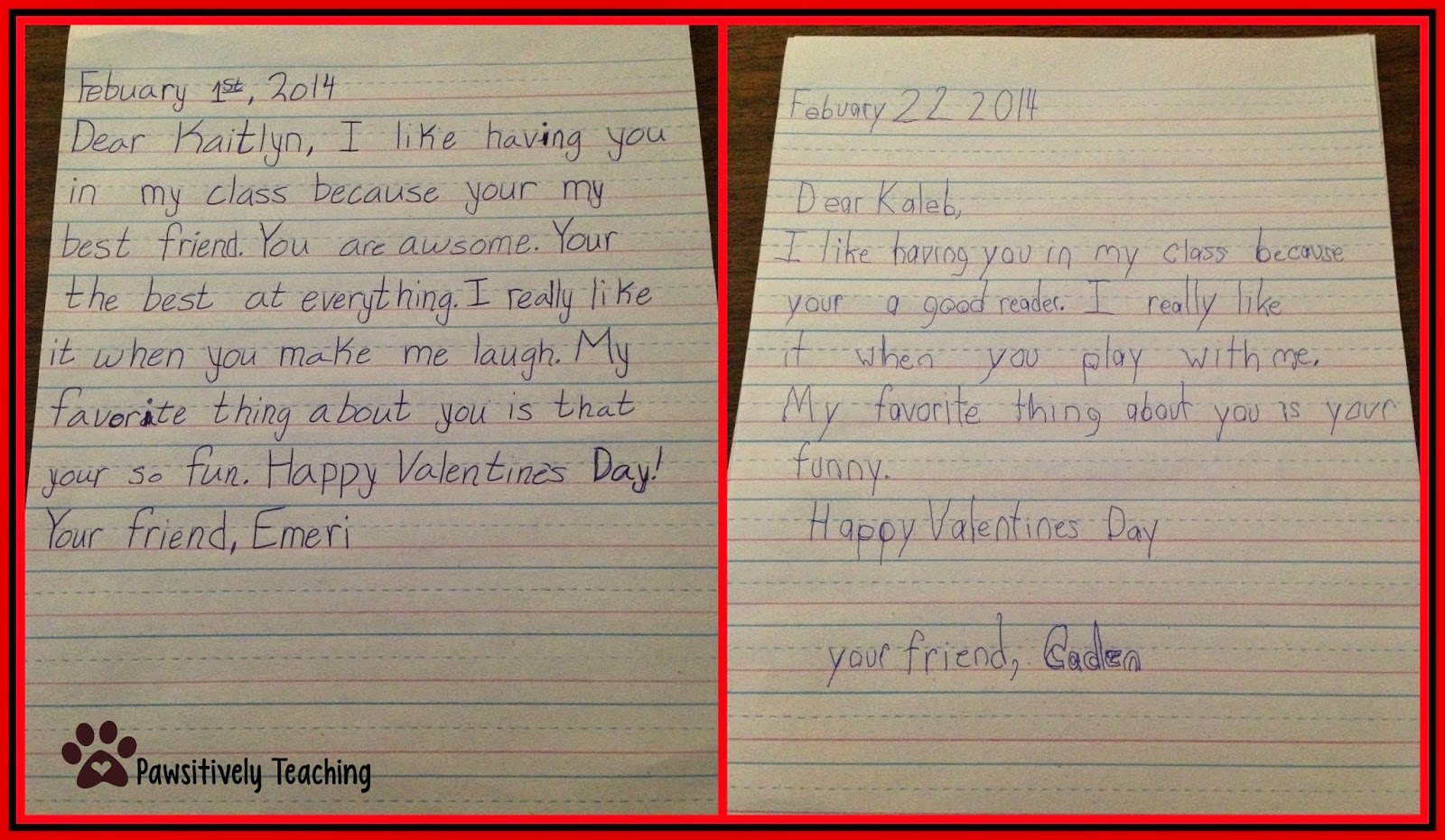 Friendly Letter Format Elementary School.  Who s and New Building Friendships on Valentines Day