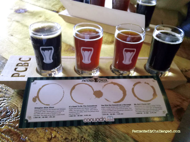 Coffee beer sampler
