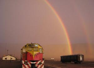 Un tren en el cielo