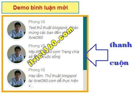 Thêm bình luận mới gần đây cho blogspot, Phong Vũ computer