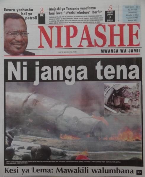 Tanzania Magazeti Ya Leo Nipashe