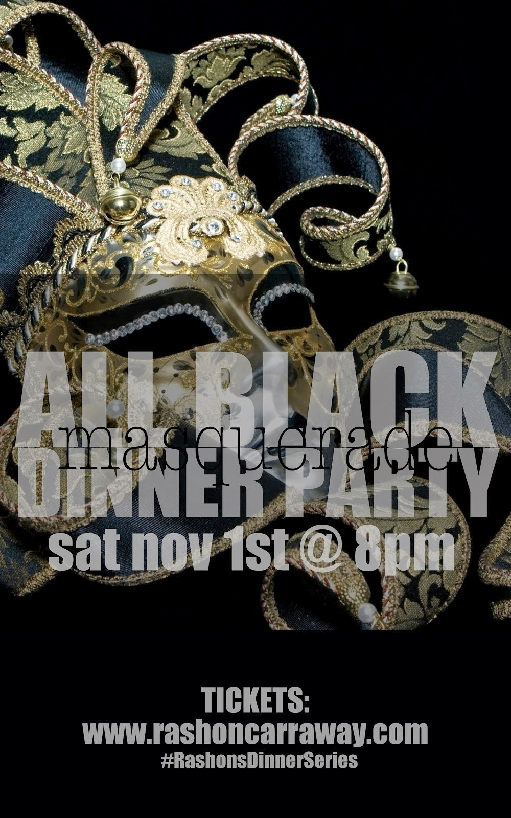 "All Black ""Masquerade"" Dinner                         (CLICK for DETAILS)"