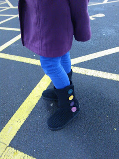 Black Cardy 2 Ugg Boots for Children