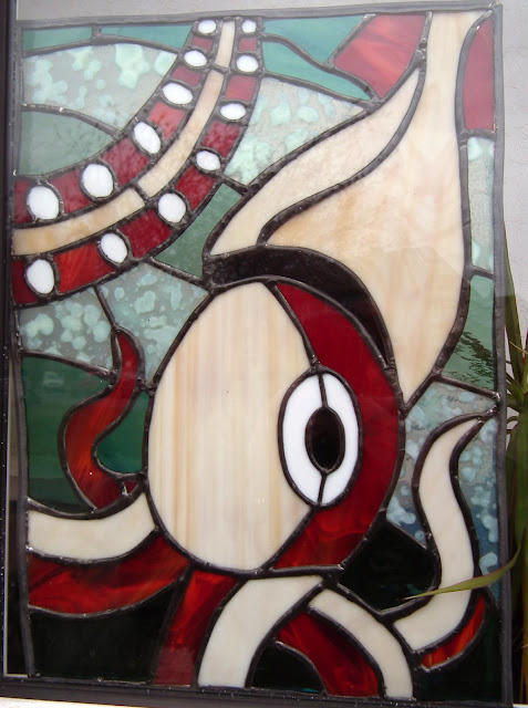 Stained glass kraken