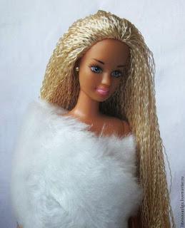 Как сменить волосы кукле барби
