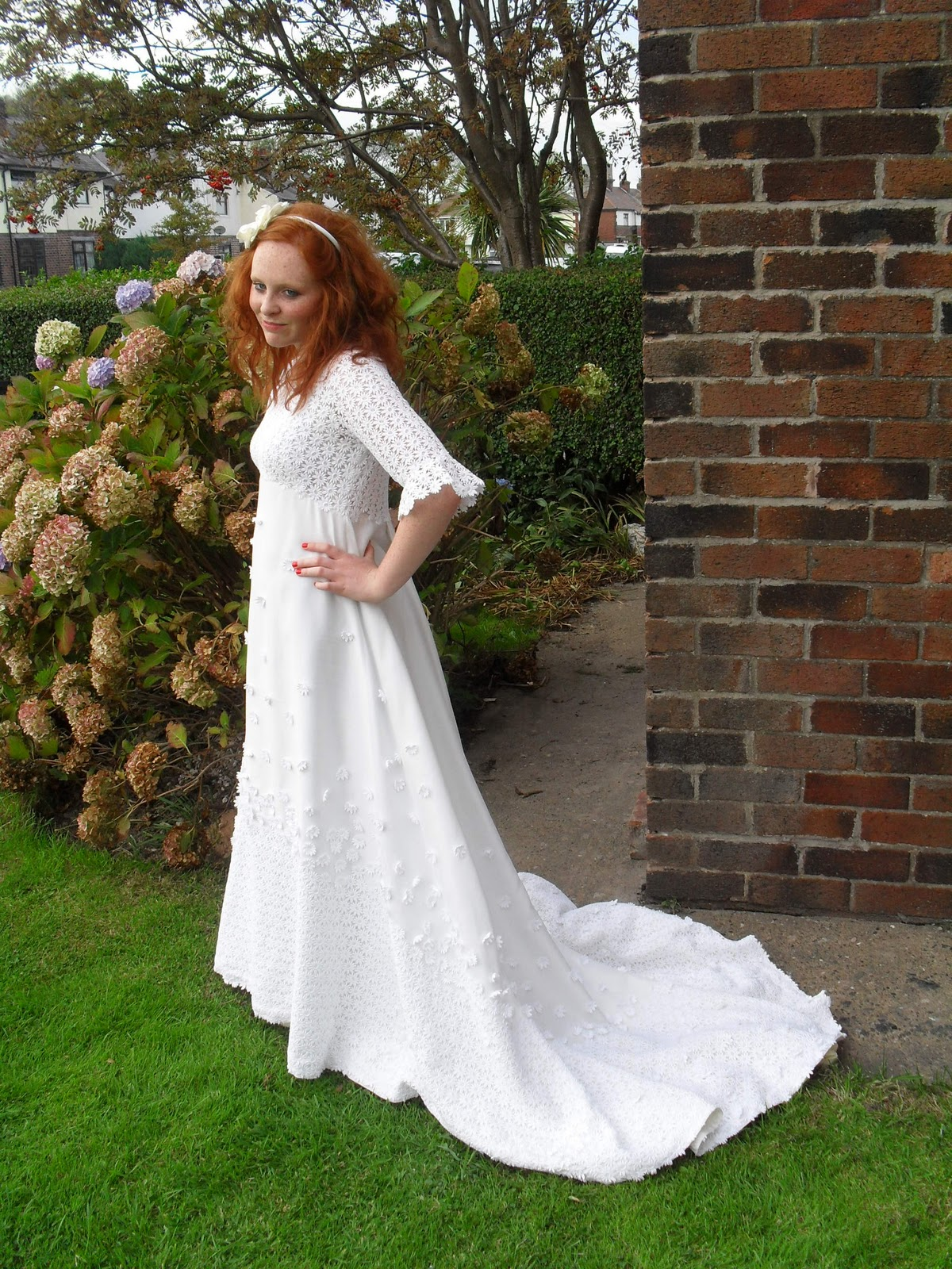 My model is wearing a breath taking original 1970 s for 1970s wedding dresses for sale