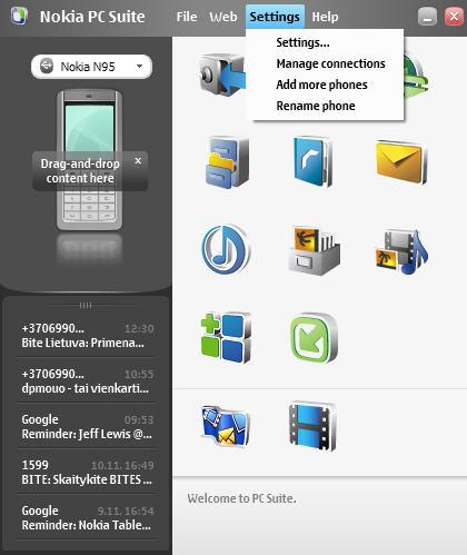 nokia e71 pc connection software
