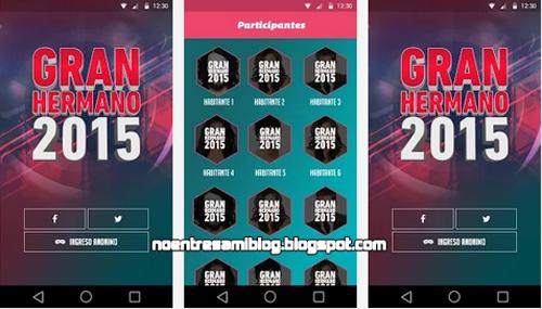 Aplicacion Gran Hermano 2015 gratis para Android