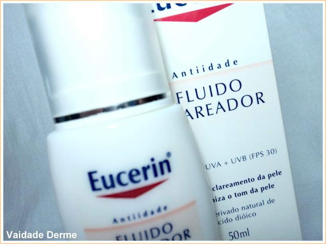 Fluído Clareador FPS 30 da Eucerin contra manchas de pele, filtro solar clareador uniformizante para a pele