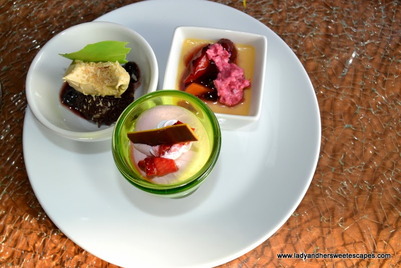 my desserts from Palm Grill Radisson Blu